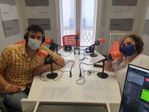 Iris y Pedro Soriano en Frecuencia Enfermera grabando el podcast de ffpaciente 2
