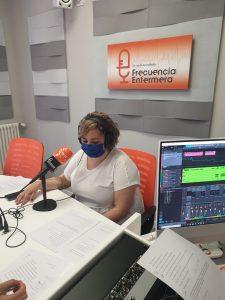 Iris y Pedro Soriano en Frecuencia Enfermera grabando el podcast de ffpaciente 4